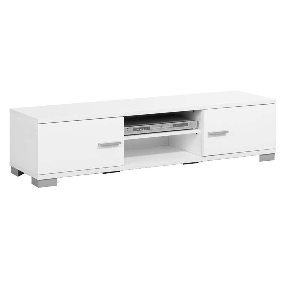 Tv meubel boston hoogglans wit 35x140x40 cm for Hoogglans wit tv meubel