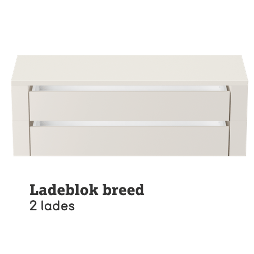 Ladeblok breed 2 lades