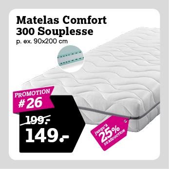 Matelas 300 Souplesse