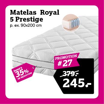 Matelas Royal 5 Prestige