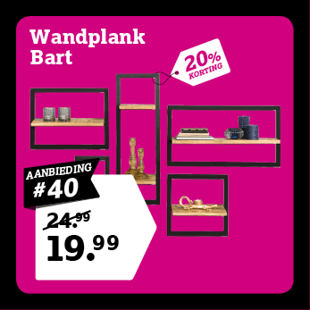 Wandplank Bart
