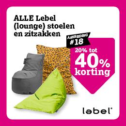 tot 40% korting op Lebel (lounge) stoelen en zitzakken