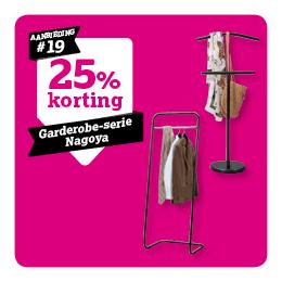 25% korting op garderobe-serie Nagoya