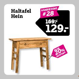 Haltafel Hein