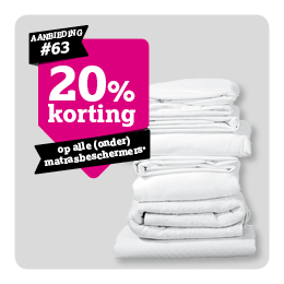 20% korting op matrasbeschermers