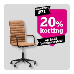 20% korting op bureaustoelen