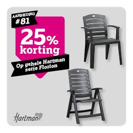 25% korting op serie Florion Hartman