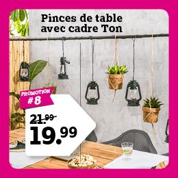 Pinces de table avec cadre Ton