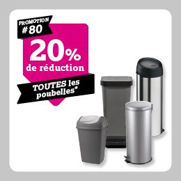 20% de reduction sur poubelles