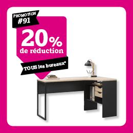20% de reduction sur bureaux