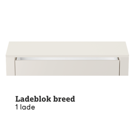 Ladeblok breed 1 lade