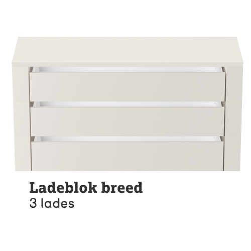 Ladeblok breed 3 lades