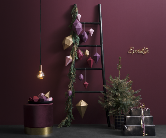 Alternatieve kerstboom met ladder roel