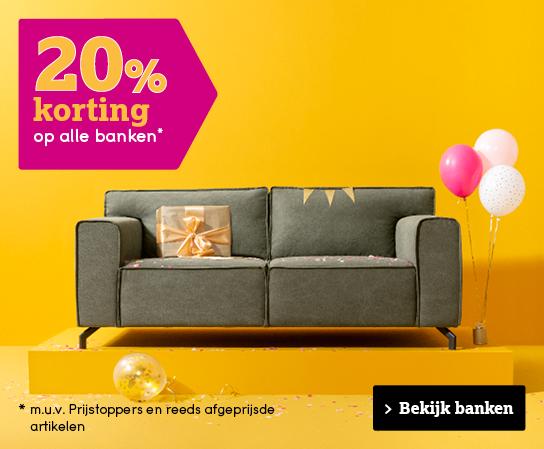 20% korting op banken