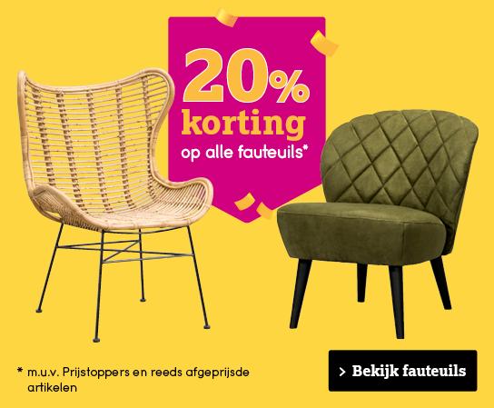 10% korting fauteuils