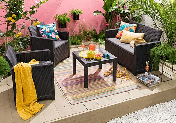 Tendance de jardin: tapis d'exterieur