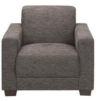 Deze bruine Aberdeen fauteuil heeft een stijlvolle, strakke vormgeving die helemaal op zijn plaats is in een landelijke, maar moderne inrichting. De zachte bekleding van de stoel is een mix van polyester, katoen en acryl en is mak