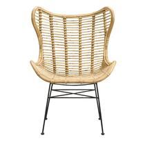 Fauteuil Jasmine is een bijzondere fauteuil in een natuurlijke kleur. Een botanische woonstijl is dé trend van nu en deze fauteuil past daar perfect bij.