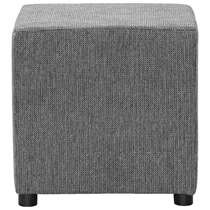 Hocker Noah is perfect als bijzettafeltje of extra zitje. De structuur van stof Sumatra heeft een hele fijne krijtstreep. De donkergrijze kleur is prima te combineren met andere meubels in je woning.