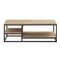 Table de salon Kyan - noire/couleur naturelle - 40x120x60 cm