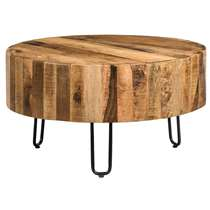 Table de salon Yari - naturelle/noire - 70x38 cm