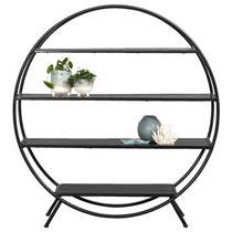 Apportez une touche unique à votre intérieur à l'aide de cette étagère stylée Kick. Ce meuble rond est fait de métal noir.