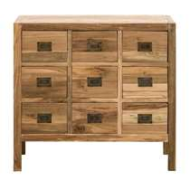 Kast Dean - natural recycled hout - 75x80x35 cm