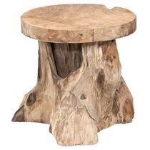 Bijzettafel Borneo is gevormd uit een boomstronk voor het ultieme buitengevoel in huis. Deze tafel is gemaakt van massief  teakhout, zodat je nog jaren van deze tafel kunt genieten.