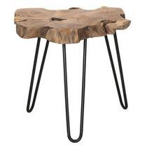 Bijzettafel Kanton  is gemaakt van massief teak, gecombineerd met metaal. Deze oriëntaals aandoende tafel staat heel mooi in de hal, woon- of slaapkamer.