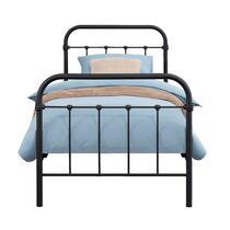 Bed Anne - mat antraciet - 90x200 cm