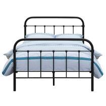 Bed Anne - mat antraciet - 140x200 cm