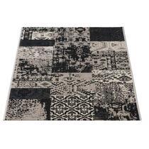Tapijt Victory is een mooi tapijt, opgedeeld in blokken en figuren. Dit tapijt van 160x230 cm heeft enkele mooie grijstinten, wat het een elegant uiterlijk geeft.