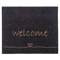 Mat Walk&Wash Welcome - antraciet - 67x80 cm