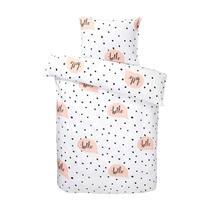Dekbedovertrek Hello is cute! Dit leuke dekbedovertrek met vrolijke uitstraling is perfect voor een gezellige slaapkamer voor meiden.