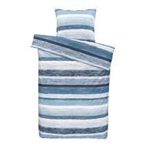 Dekbedovertrek Matthew is een overtrek met strepen in allerlei blauwtinten. Dit vrolijke dekbedovertrek is gemaakt van 100% katoen en ligt heerlijk comfortabel.