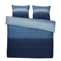 Comfort parure de couette Stockholm - bleue - 200x200/220 cm