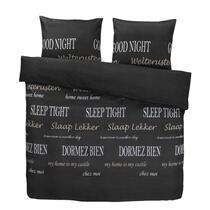 Dekbedovertrek Slaap Lekker - zwart - 200x200 cm