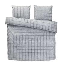 Comfort parure de couette Seppe - grise - 200x200/220 cm
