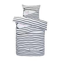 Comfort dekbedovertrek Minoes - zwart/wit - 120x150 cm