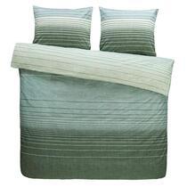 Comfort parure de couette Stockholm - verte - 200x200/220 cm