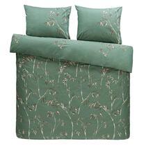 Comfort parure de couette Muriel - verte - 240x200/220 cm