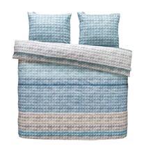 Ariadne at Home parure de couette Quilted Squares - bleue - 240x200/220 cm