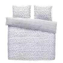 Comfort parure de couette Dany - noire/blanche - 240x200/220 cm