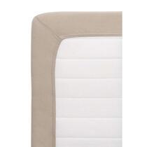 Slaap nu nog lekkerder op dit hoeslaken Jersey! Het laken is taupe van kleur en heeft een afmeting van 160x200 cm. Combineer het met ander beddengoed en creëer zo een sfeervol geheel.