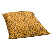 Gezellig ontspannen doet u op een zitzak van Lebel. Deze comfortabele zitzak Leopard heeft een okergele kleur met een luipaardprint en heeft de vorm van een peer.