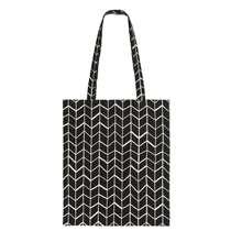 Le sac Ohio de 35x39 cm est noir. Ce sac est fabriqué à partir de coton.