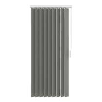 Stoffen verticale lamellen lichtdoorlatend 89 mm - grijs - 150x180 cm