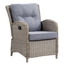 Le Sud loungefauteuil Verona verstelbaar - grijs