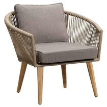 Le Sud fauteuil lounge Bastia (avec coussins) - naturel