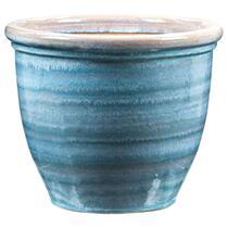 Bloempot Caroline - blauw - 30x37 cm
